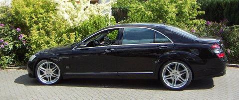 Mercedes S500L Brabus Außenansicht nach Einbau einer LPG-Autogas Anlage