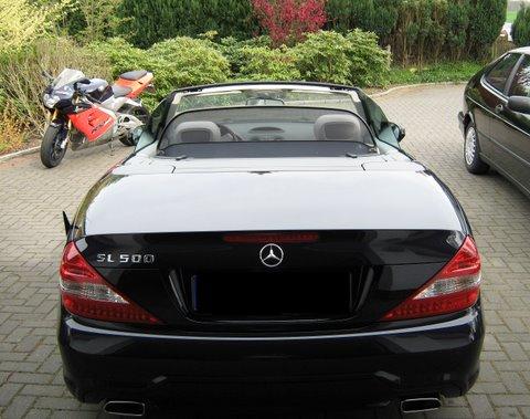 Mercedes SL500 Außenansicht nach Einbau einer LPG-Autogas Anlage