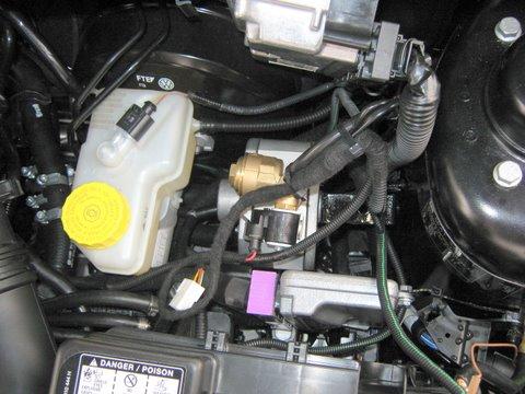 Seat Ibiza 1.4 Motorraum nach Einbau einer LPG-Autogas Anlage