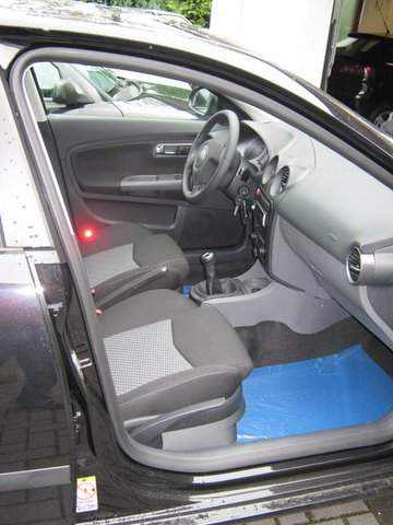 Seat Ibiza 1.4 Innenansicht nach Einbau einer LPG-Autogas Anlage