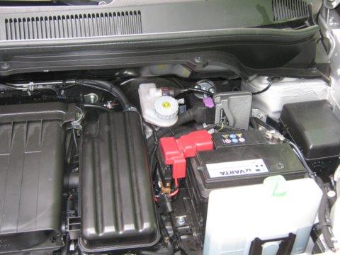 Suzuki Splash 1.2 Motorraum nach Einbau einer LPG-Autogas Anlage