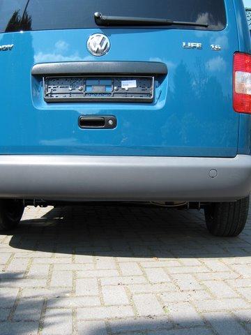 Volkswagen VW Caddy Heckansicht nach Einbau einer LPG-Autogas Anlage
