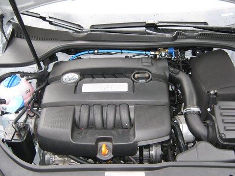 Volkswagen VW Golf Variant Tankeinfüllstutzen nach Einbau einer LPG-Autogas Anlage