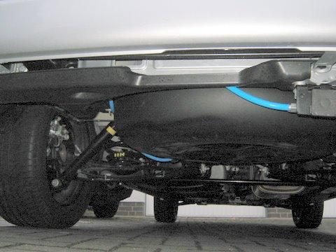 Volkswagen VW Multivan Unterflurtank nach Einbau einer LPG-Autogas Anlage