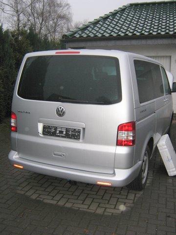 Volkswagen VW Multivan Heckansicht nach Einbau einer LPG-Autogas Anlage