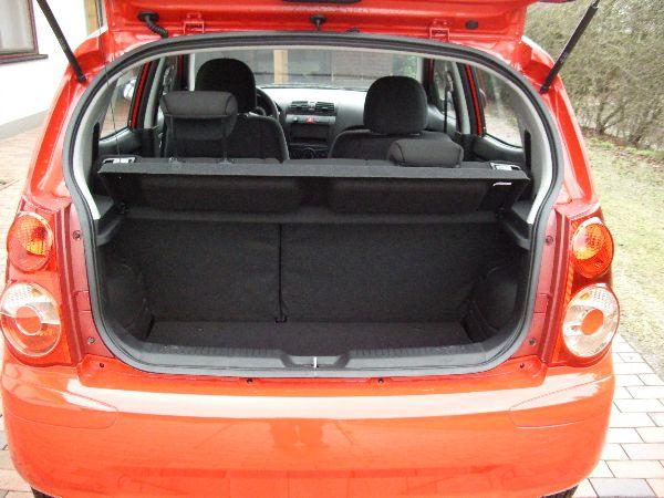 Kia Picanto Kofferraum nach Einbau einer LPG-Autogas Anlage