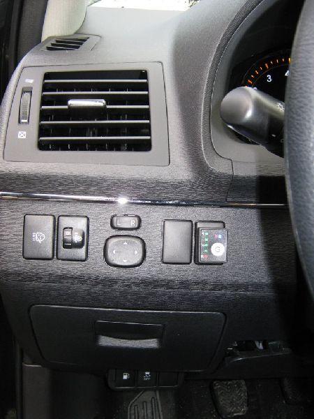Kontrolleuchten und Tasten zur Steuerung der Autogasanlage