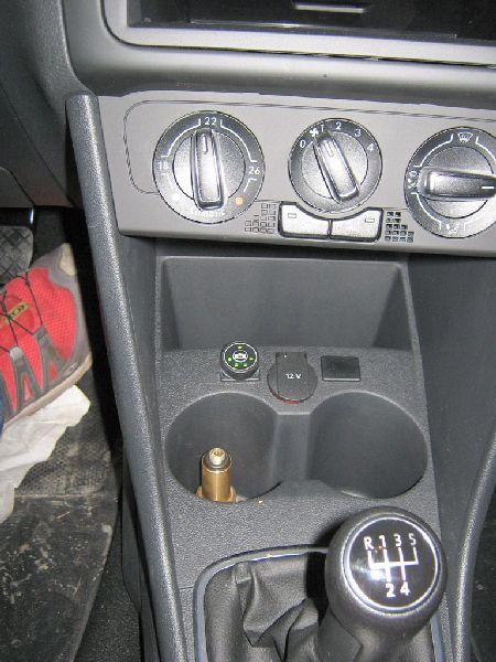 Innenraum: Positionierung des Gas-Computers